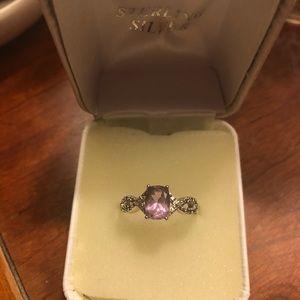 Jewelry - Amethyst & Diamond infinity ring